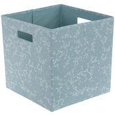 Blue & White Leaves Collapsible Storage Container
