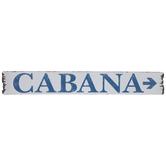 White & Blue Cabana Wood Wall Decor