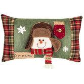 Snowman Let It Snow Pillow