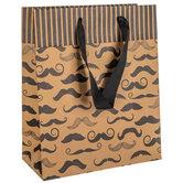 Kraft Mustache Gift Bag