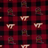 Virginia Tech Allover Collegiate Fleece Fabric