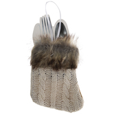 Knit Stocking Silverware Sleeve