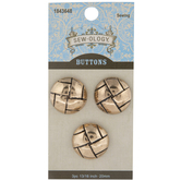 Gold Basket Weave Metal Shank Buttons - 20mm
