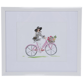 Floral Bike Framed Wall Decor