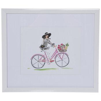 Chanel Floral Bike Framed Wall Decor