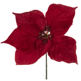 Red Velvet Poinsettia Pick