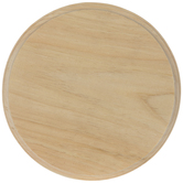 Round Wood Plaque