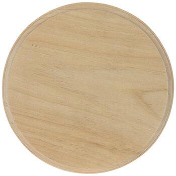 "Round Wood Plaque - 9"""