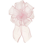Light Pink Organza Loop Bow