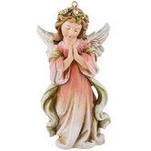 Pink Praying Angel Ornament