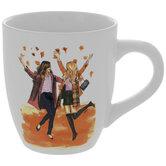 Girls In Fall Leaves Mug
