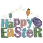 Happy Easter Glitter Wood Wall Decor