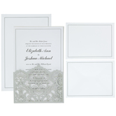 Silver Flourish Wedding Invitations