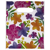 Luau Flowers Zipper Bags With Handles