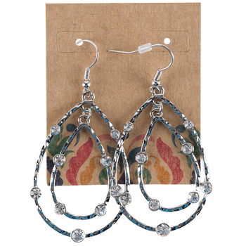 Double-Teardrop Earrings