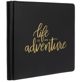 "Life Is An Adventure Strap Hinge Scrapbook Album - 12"" x 12"""