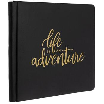 "Life Is An Adventure Strap Hinge Scrapbook Album - 12"" x 12"""