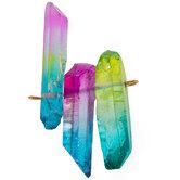 Rainbow Dyed Quartz Dagger Trio
