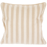 Natural & Cream Striped Pillow Cover