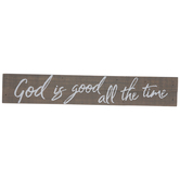 God Is Good Wood Decor