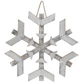 White Distressed Snowflake Wreath Embellishment