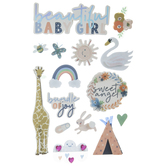 Beautiful Baby Girl 3D Stickers