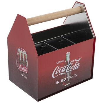 Drink Coca-Cola In Bottles Metal Caddy