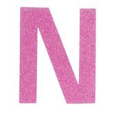 """Glitter Wood Letter N - 4"""""""