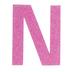 Glitter Wood Letter N - 4