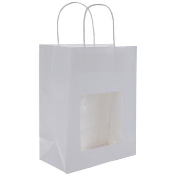 White Window Craft Gift Bags