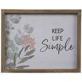 Keep Life Simple Wood Wall Decor