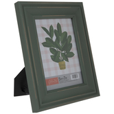 "Light Green Distressed Wood Frame - 5"" x 7"""