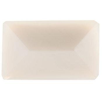 White Rectangle Glass Knob