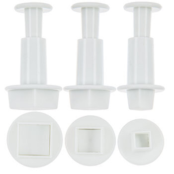 Square Fondant Press Cutters