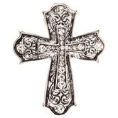 Rhinestone Metal Cross Pendant