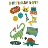 Birthday Boy Dinosaur 3D Stickers