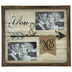 You & Me Arrow Wood Collage Frame
