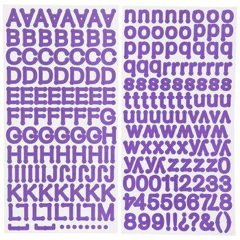 Purple Dot Alphabet Stickers