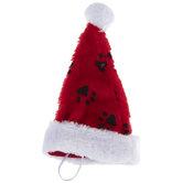 Paw Print Dog Santa Hat