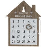 Days Til Christmas Calendar Wood Decor