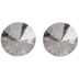 Crystal Satin Back Drilled Swarovski Buttons