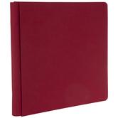 """Red Cloth Strap Hinge Scrapbook Album - 12"""" x 12"""""""