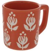 Orange & White Flowers Mug