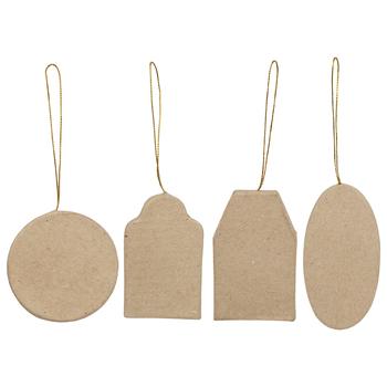 Paper Mache Flat Hang Tags