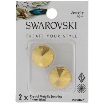 Metallic Sunshine Rivoli Swarovski Stones - 14mm