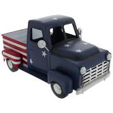 American Flag Metal Truck