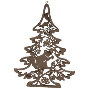 Squirrel & Pinecones Dimensional Tree Ornament