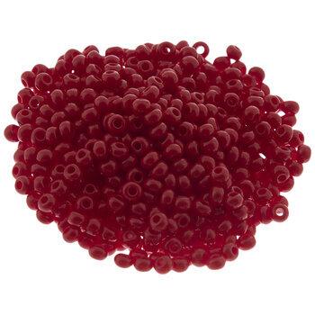 Opaque Dark Red Czech Glass Seed Beads - 8/0