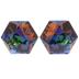 Crystal Vitrail Medium Swarovski Kaleidoscope Hexagon  Stones - 9.4mm x 10.8mm