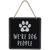 We're Dog People Metal Wall Decor